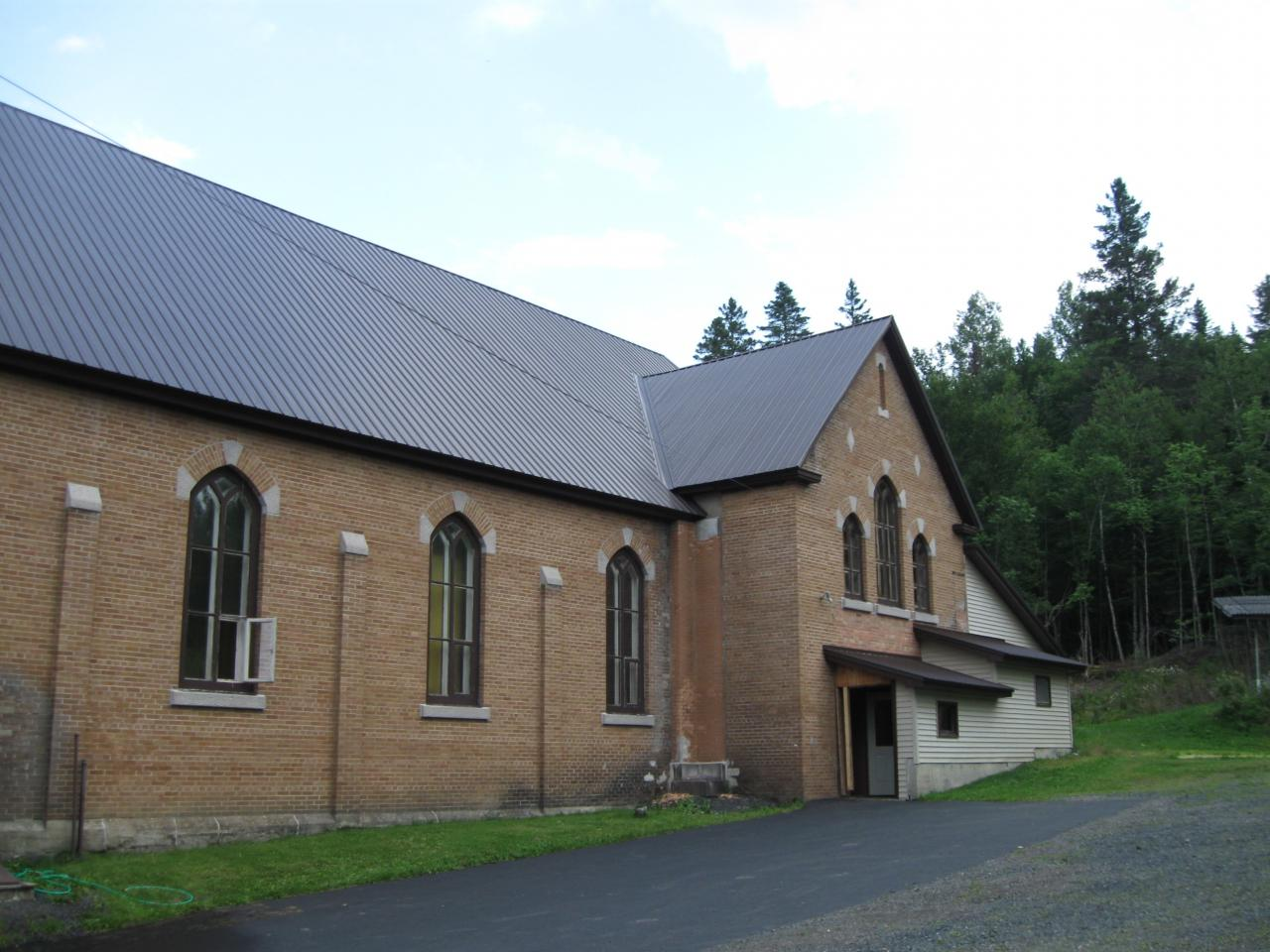 side view of church